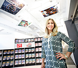 Kaitlin McCabe '16 in Sports Illustrated's office.