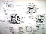 A sketch illustrating James Larson's Smallen Creativity Grant project.
