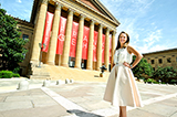 Mackenzie Leavenworth '15 at the Philadelphia Museum of Art.