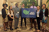 Hamilton students at the Lend for America summit.