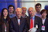 Hamilton Program in New York City students with Arthur Levitt Jr. at Bloomberg.