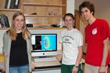 Anna Hagstrom (Amherst '13), Erica Losito '12 and Jeremy Adelman '13.