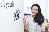 Chloe Ma'17 at her internship at Global Nomads Group.
