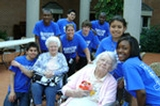HEOP students with Masonic Care residents Anna Gordecki and Vera Wilson.