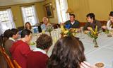 Louis Menand joined Hamilton students for lunch prior to his lecture.
