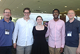 From left; Steve Young, Pat Marris '16, Erin Lewis '18, David Dacres '18 and Prof. Adam Van Wynsberghe,