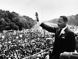 "Martin Luther King Jr. gives the ""I Have a Dream"" speech in Washington, D.C., on August 28, 1963."