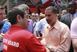 Maurice Michaane '03 greets Gov. David A. Paterson at N.Y.C. Pride, June 28