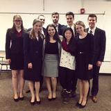 Members of Hamilton's Mock Trial team at the regional competition in Buffalo earlier this year.