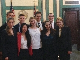 Hamilton's Mock Trial team at nationals in Cincinnati.
