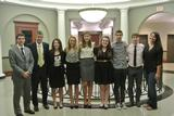 Members of Hamilton's Mock Trial team at ORCS.