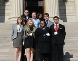 Hamilton participants in the National Model U.N. Conference in Washington, D.C.