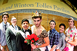 Mr. Hamilton contestants from left Colin Horgan '19, Alan Yecies '17, Jose Olivares '16, Jared Mandelbaum '18, Thomas Hoffman 16, Alan Yeh '18 and Sean Rose '19.