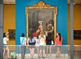 Hamilton College students get a guided tour, led by Museum Education Coordinator Clare Fitzgerald through the Munson Williams Proctor Arts Institute.