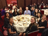 Hamilton Program in New York City students and Professor Dan Chambliss at Jing Fong in Chinatown.