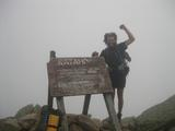 Andrew Pape '11 at the end of his Appalachian Trail trek.