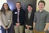 Samantha Srinivasan, Thomas Duda, Alex Black and Jack Confrey presented posters at the Parilia classics conference on April 15.