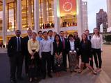 New York Program students outside Avery Fisher Hall at Lincoln Center.