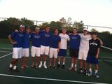 The men's tennis team won all five matches in Florida.
