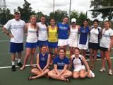 The women's tennis team won four of five matches in Orlando, Fla., in 2012.