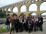 Hamilton students at the Pont du Gard.