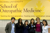 From left, Minh Nguyen, Djinnie Timoleon '17, Geum Mi (Mia) Kang '17, Patricia Taik '16, Leslie Bell and Tshering Sherpa '16.