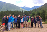 Participants in 2013 archaeology field school in British Columbia, Canada