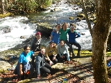 The Smoky Mountains backpacking group.