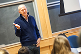 David Solomon '84 speaks about careers in finance to students in the Taylor Science Center.