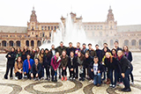Students on the Hamilton Academic Year in Spain at Plaza de España, Sevilla.