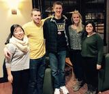 Deanna Cho '15, Jamie McLean '15, John Bennett '16, Catherine Oglevee '15 and Ashley Carducci '15.