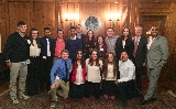 Student delegates from Hamilton, Union College and St. Lawrence University at the NY 6 conference.