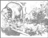 Thomas Nast's Republican Elephant, Harper's Weekly, 1874