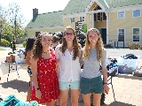 Thrift Shop founders from left Sara Purinton '17, Audrey Love '17 and Mary Langworthy '17.