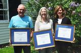 The 2014 Tobin Award winners Kevin Bancroft, Britt Hysell and Anne Riffle.