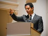 Touré speaks in the Chapel at Hamilton on March 28.