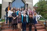 Students from Art 370 and History 370 classes at Rochester's Eastman Museum.