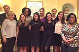 Washington DC Program students with Tom and Christie Vilsack and Assistant Professor of Government Gbemende Johnson.