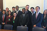 Hamiilton Program in Washington students at the Executive Office Building with Obama White House staffers Will Rusche '13 and Andrew Taub '12.