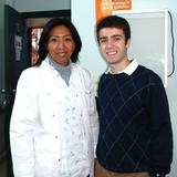 Nicholas Yepes '15 with Dr. Librada Trejo, an indigenous migrant who now works at the Ministry of Health and Luque Hospital.