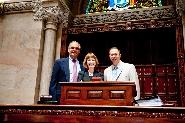(L-R) Vice President Tantillo, President Stewart and Senator Griffo