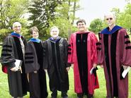 Frank Anechiarico '71, Tina Hall, Peter Rabinowitz, Peter Cannavo and Thomas Wilson
