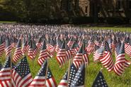 The College Democrats and Republicans will place flags along Martin's Way to honor the victims of 9/11.