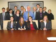 Washington Program students with Steven Hayward, center, at the American Enterprise Institute.
