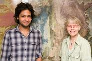 Anoop Pandey '10 and Prof. Barb Tewksbury. Photo: Dave Tewksbury Photoimaging.