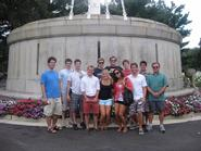 Program in Washington students in front of the USS Maine Memorial.