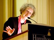 Author Margaret Atwood speaks in the Chapel on March 4.