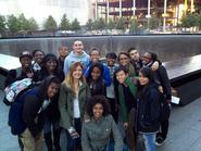 BLSU members at the national 9/11 Memorial.
