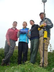 Researchers David Bailey, Maddy Gunter '11, Alissa Nauman and Nathan Goodale