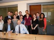 Washington program students with former U.S. Sen. Birch Bayh and Stuart Ingis '93.